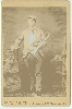 Musician  with Big Bell Trumpet Cabinet Card