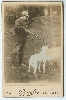 Hunter and Dog Cabinet Card