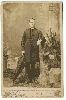 Priest with Umbrella Cabinet Card