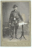 Actor in Cavalry Uniform Cabinet Card