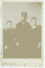 Railroad Conductor and Family Cabinet Card