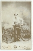 Man and His Bicycle Cabinet Card