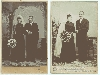 The Bride Wore Black - German Wedding Cabinet Card
