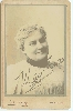 Autographed Cabinet Card by of Actress May Irwin