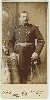 Armed Span Am Soldier Oblong Cabinet Card
