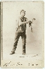 Dramatic Amateur Actor Cabinet Card