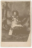 Girl with a Shovel Cabinet Card
