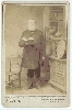 Cabinet Card of  Religious Figure